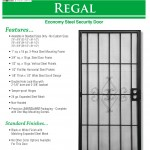 Economy Steel Security Door 4
