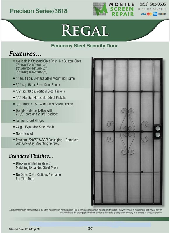 Security Screen Doors Mobile Screen Repair